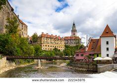 Medieval castle of Cesky Krumlov Czech Republic - stock photo