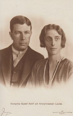 Crown Prince Gustaf Adolf and Crown Princess Louise of Sweden