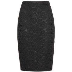 Givenchy Lace Pencil Skirt ($495) ❤ liked on Polyvore featuring skirts, black, givenchy, lace skirt, knee length pencil skirt, lacy skirt and givenchy skirt