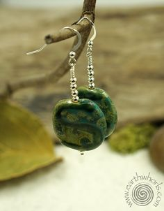"""African clay earring beads are handcrafted with clay from Mt. Kenya. Literally """"Out of Africa"""" to you. Also called, Kazuri beads - which means """"small and beautiful in Swahili, these lovely, handmade b"""