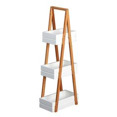 Found it at Wayfair.co.uk - Bamboo and MDF Free Standing Shower Caddy