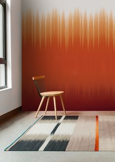 This full height ombre design focused on graduating in between colours. Designed by Ptolemy Mann.