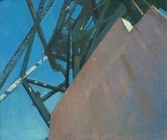 "©Frank Hobbs: ""Draw Bridge,"" oil on panel, 12 x 15 in."