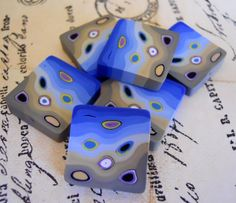 Polymer Clay Beads by TLS Clay Design by TLSClayDesign on Etsy, $5.29