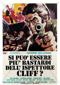 """Mafia Junction (1973) """"Si può essere più bastardi dell'ispettore Cliff?"""" (original title) Stars: Ivan Rassimov, Stephanie Beacham, Patricia Hayes ~ Director: Massimo Dallamano"""