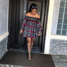 40+ Latest New #Ankara #Short #Gown #Styles #2018 for Bright Ladies: #African #Fashion #Trends