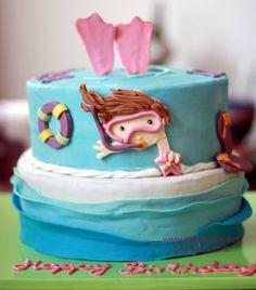 scuba diving cake - chocolate heaven and decadent vanilla!!1
