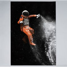Art-Poster - Street Astronaut - Illustration - Design by Florent Bodart. Art-Poster and prints published by Wall Editions Space Illustration, Funny Illustration, Illustrations, Astronaut Illustration, Space Odyssey, Astronaut Wallpaper, Street Art, Painting Prints, Art Prints
