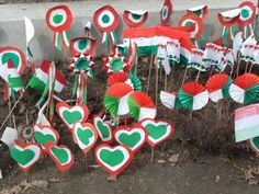 március 15 Diy And Crafts, Crafts For Kids, Arts And Crafts, Lebanon Independence Day, Pakistan Day, Republic Day, Craft Activities, Christmas Ornaments, Holiday Decor