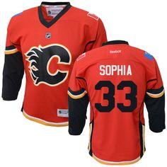 Reebok Calgary Flames Preschool Replica Home Custom Jersey - Red 72cb45031