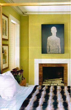 Chartreuse is a hot accent color for decorating this fall. I'm wild about the chartreuse - will you embrace it? Home Bedroom, Bedroom Decor, Bedroom Ideas, Peaceful Bedroom, Bedroom Suites, Bedroom Small, Master Bedroom, Apartment Therapy, Chartreuse Color