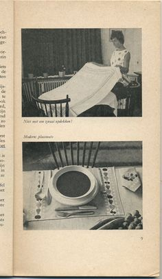 Modern: placemats. From Kom aan tafel (come to the table), Netherlands, 1962