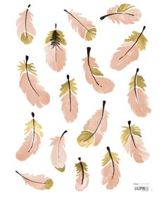 Stickers déco plumes roses | Lucie Bellion #kids