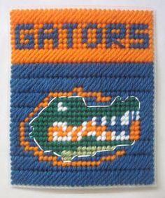 Florida Gators tissue box cover in plastic canvas PATTERN ONLY