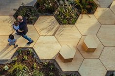Simple but smart design transforms a concrete plaza into a lively urban park Zighizaghi by OFL Architecture – Inhabitat - Green Design, Innovation, Architecture, Green Building