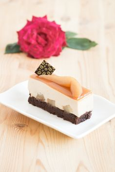 Earl Grey Poached Pear Entremets