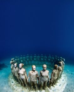 travelgurus:  Beautiful underwater Museum in Mexico! You can explore it majestic beauty at HobbyEarths new social network and hobby assistant.