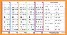 Six differentiated worksheets to identify one more and one less of a ...
