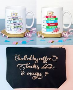 With Love for Books: Drink Coffee and Read Books Mugs + Fuelled By Coff...