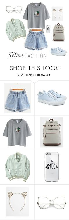 """feline3"" by deboraaguirregoncalves on Polyvore featuring moda, Givenchy, WithChic, Pusheen, Gap e Full Tilt"