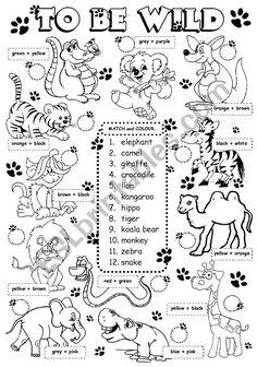 Colours Crossword Puzzle ESL Exercise Worksheet For Kids
