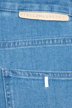 Blue and indigo denim Button and concealed zip fastening at front 92% cotton, 6%…