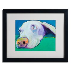 """Fritz"" by Pat Saunders Framed Painting Print 