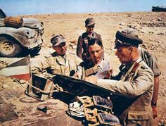 "Field Marshal Erwin Rommel, commander of the Afrika Korps, earned the nickname of the Desert Fox"" during a virtually uninterrupted string of victori es that made him a legend. Pin by old Paolo Poop Stain Marzioli German Soldiers Ww2, German Army, Afrika Corps, North African Campaign, Erwin Rommel, Field Marshal, Italian Army, Germany Ww2, Panzer"