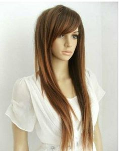 Newest Fashion Style Women Girls Sexy Long Straight Hair Wig 3 Colors Available | eBay