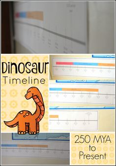 Dinosaur Timeline - Show your kids how long ago dinosaurs ruled the earth with this great free visual!