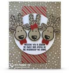 CARD This is one of my favorite cards from the Stampin Up Cookie Cutter Christmas stamp set. I love the veristility of the Cookie Cutter punch (ginger bread Christmas Cards 2018, Stampin Up Christmas, Xmas Cards, Christmas Ideas, Cards Diy, Christmas 2016, Christmas Candy, Christmas Traditions, Holiday Cards