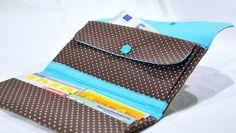 Portemonnaies - Portemonnaie/Geldbörse braun mit Punkten - ein Designerstück von noordlichtshop bei DaWanda