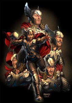 Thor art for Sega by `diablo2003