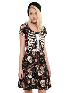 Floral Rib Cage Dress | Hot Topic