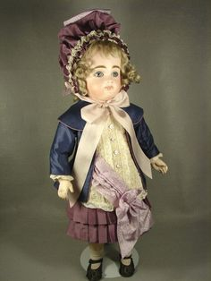 French Style Jacket Dress with matching Hat for 19 inch Antique Doll from ~ CAROL H. STRAUS ~ found @Doll Shops United http://www.dollshopsunited.com/stores/silkandtrim/items/1302807/French-Style-Jacket-Dress-matching-Hat-for-19-inch #dollshopsunited