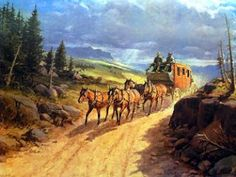Living and working on a cattle and horse ranch in the deep south. I'd settle for a slowdown. Western Wild, Western Art, Cowboy Pictures, Cowboy Pics, Horse And Buggy, Classic Paintings, Art Paintings, Good Old Times, American Frontier