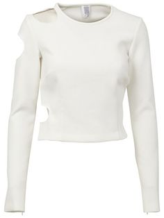 ROSIE ASSOULIN Longsleeved Cut-Out Top. #rosieassoulin #cloth #top