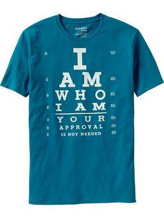 "Men's ""I Am Who I Am"" Graphic Tee— Old Navy"