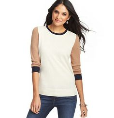Colorblocked 3/4 Sleeve Sweater