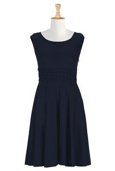 Add 3/4 length sleeve -Shop women's designer fashion - A-line dress - Shop for A-line dresses | eShakti