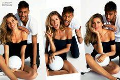 Neymar & Gisele Bundchen in a photo shoot by Mario Testino for Vogue Brazil, June 2014