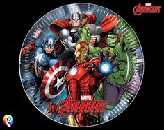 Here are our Avengers Power 8 Large Paper Plates. | eBay!
