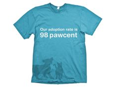 HSWM Celebrate 50 years T-Shirt. #wemadethis The Humane Society of Western Montana (HSWM) is celebrating 50 years of finding homes for pets throughout the region. While the average national adoption rate is 36%, HSWM maintains a 98% adoption rate. We created these t-shirts to showcase the successful adoption rate and the new 50th anniversary logo that we created. #montana #missoula #HSWM #logos #fonts #graphics | Six Pony Hitch