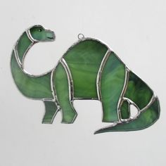 Brontosaurus Stained Glass Christmas Ornament or Home Decor Suncatcher