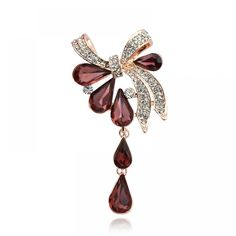 Youngtulip 3 Colors Available Big Crystal Water Drop Brooches For Women Wedding Pin And Brooch Fashion Scarves Buckle Corsage Price: USD Bow Jewelry, Jewelry Sets, Jewelry Accessories, Fashion Jewelry, Fashion Scarves, Crystal Brooch, Crystal Rhinestone, Women's Brooches