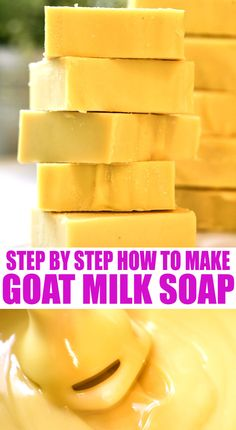 A step by step tutorial on how to make goat milk soap. This tutorial will show you how easy it is to make goat milk soap! Homemade Conditioner, Homemade Shampoo, Face Scrub Homemade, Hair Conditioner, Homemade Soap Recipes, Homemade Products, Homemade Putty, How To Make Decorations, Healty Dinner