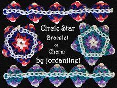 New Circle Star Bracelet / Charm / Ornament - Rainbow Loom tutorial by Crazy Loom Bracelets, Loom Band Bracelets, Rainbow Loom Bracelets, Loom Bands, Rainbow Loom Tutorials, Rainbow Loom Creations, Free Activities For Kids, Rainbow Loom Charms, Loom Craft