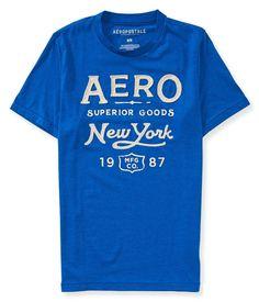 Camiseta Aeropostale Masculina SUPERIOR GOODS - Azul - Figo Verde: Roupas importadas originais