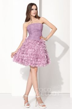 Lovely+A-Line+Strapless+Knee+Length+Organza+Purple+Lace+Up-Corset+Cocktail+Dress+COUM13001