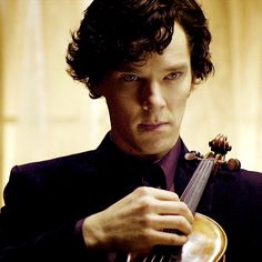 sherlock plucks violin